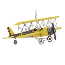 Handcrafted Antique Die Cast Metal Bi-Plane Airplane Toy Replica