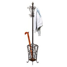 Casa Cortes Metal Coat and Hat Hanging Rack by EC World Imports
