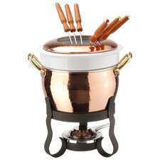 10 Piece Copper Fondue Set