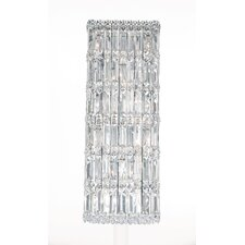 Quantum 10-Light Wall Sconce in Polished Silver