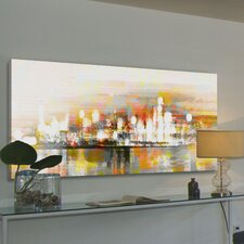 Hong Kong Graphic Art Wrapped on Canvas