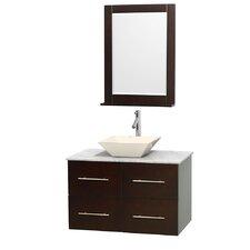 Centra 36 Single Espresso Bathroom Vanity Set with Mirror by Wyndham Collection