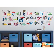 Alphabet Fabric Wall Decal