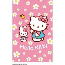Teppich Hello Kitty in Rosa/Gelb/Weiß