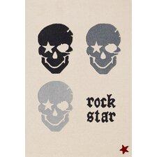 Handgetufteter Teppich Rock Star Baby in Beige