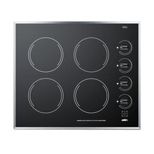 """24"""" Electric Cooktop with 4 Burners"""