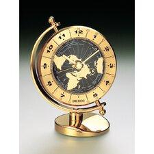 Brass Desk and Table World Time Bezel Clock