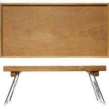 Oval Oak Bed Tray with Folding Legs