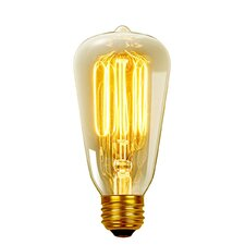 60W Vintage Edison S60 Squirrel Cage Incandescent Filament Light Bulb (Set of 3)