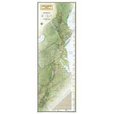 Appalachian Trail Laminated Map