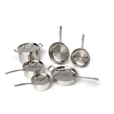 Premium Copper Clad Stainless Steel 10 Piece Cookware Set