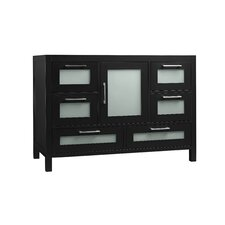 Athena 48 Bathroom Vanity Base Cabinet in Black by Ronbow