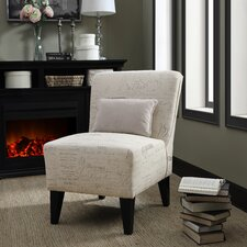 Langford Armless Slipper Chair with Pillow by Fox Hill Trading