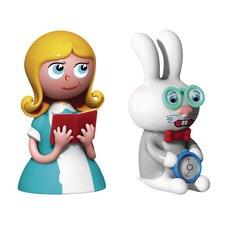 Holiday Alice and White Rabbit 2 Piece Figurine Set