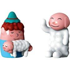 Holiday Pastorello and Ciaociao 2 Piece Figurine Set
