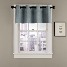 Velvet Soft Luxury Grommet Curtain Valance
