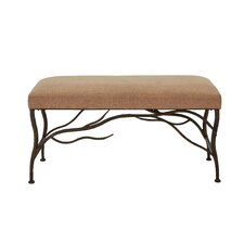 Metal/Wood and Upholstered Bedroom Bench by Cole & Grey