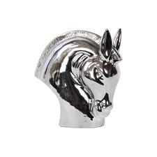 Ceramic Horse Head Polished Silver