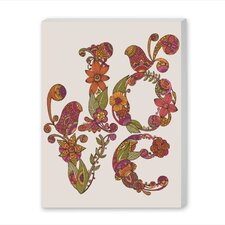 Love by Valentina Ramos Graphic Art on Wrapped Canvas by Americanflat
