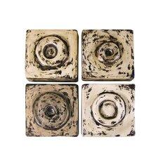 4 Piece Antique Cuadritos Tiles Wall Décor Set