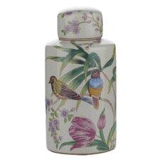 Decorative Floral / Bird Jar