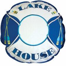 Lake Retreat House Preserver Outdoor Sunbrella Throw Pillow