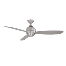 """52"""" Sphere 3-Blade Ceiling Fan with Wall Remote"""