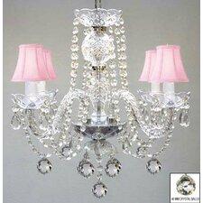 4 light crystal chandelier - Baby Girl Room Chandelier