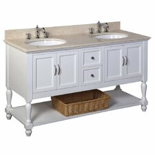 Beverly 60 Double Bathroom Vanity Set by Kitchen Bath Collection