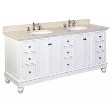 Bella 72 Double Bathroom Vanity Set by Kitchen Bath Collection