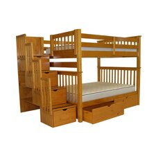 Full over Full Bunk Bed with Storage by Bedz King