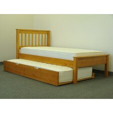Mission Twin Slat Bed with Trundle by Bedz King