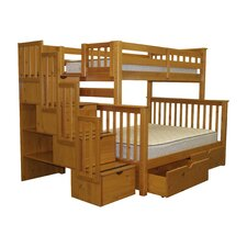 Twin over Full Bunk Bed with Storage by Bedz King