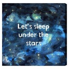 """Burst Creative Sleep Under the Stars by Olivia""""s Easel Canvas Art"""