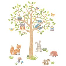 Woodland Tree Kids Wall Sticker Kit