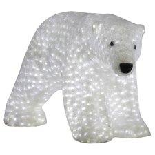 Female Polar Bears LED Sculpture Decoration