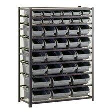 """57"""" H Steel Commercial Bin Shelving Unit"""