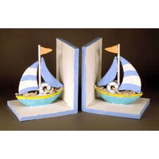 Sailboat Book Ends (Set of 2)