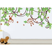 Playing Monkeys Wall Decal