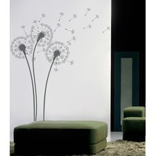 Natural Flowers Dandelions Wall Decal