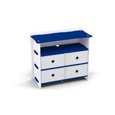 Race 4 Drawer Double Dresser by Legare Furniture