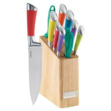 11 Piece Rainbow Knife Block Set