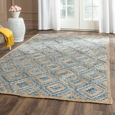 Lamphere Hand-Woven Natural/Blue Area Rug