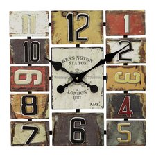 Square Analogue Wall Clock