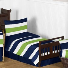 Stripe 5 Piece Toddler Bedding Set