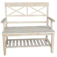 Wood Storage Entryway Bench by International Concepts