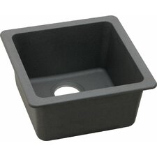 "Quartz Classic 16.6"" x 16.6"" Universal Mount Kitchen Sink"