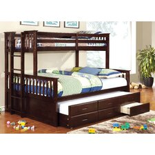 emmerson twin over queen bunk bed with trundle