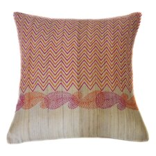 Paisley Hand Block Printed Embroidered Linen Throw Pillow