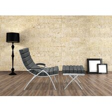 Classic Lounge Chair and Ottoman Set by Fine Mod Imports